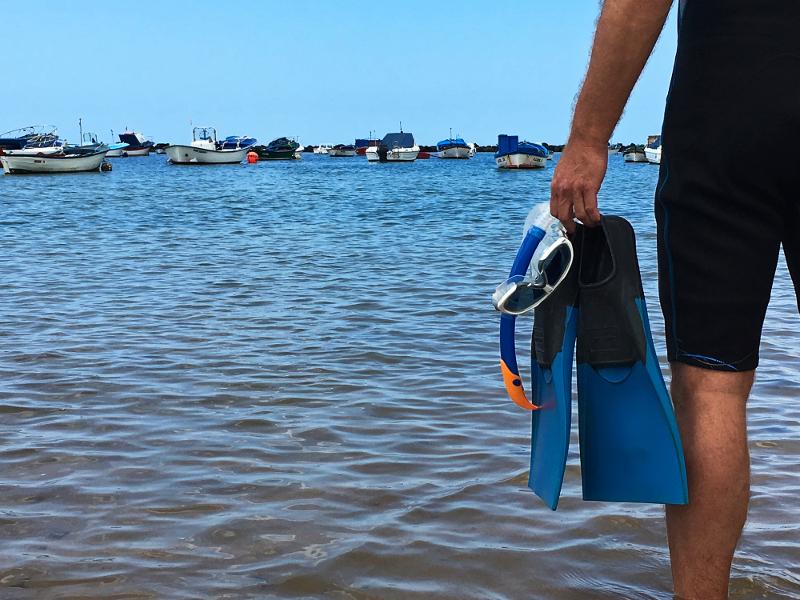 Snorkel en la playa de Las Teresitas